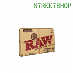 Feuilles et tips Raw Artesano Organic hemp 1 1/4